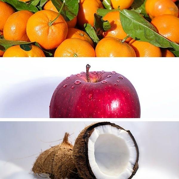 clementine apple coconut