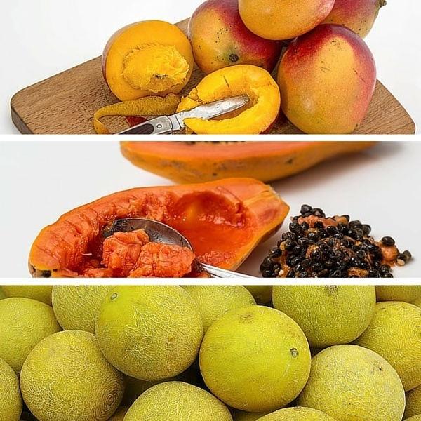 mango papaya cantaloupes
