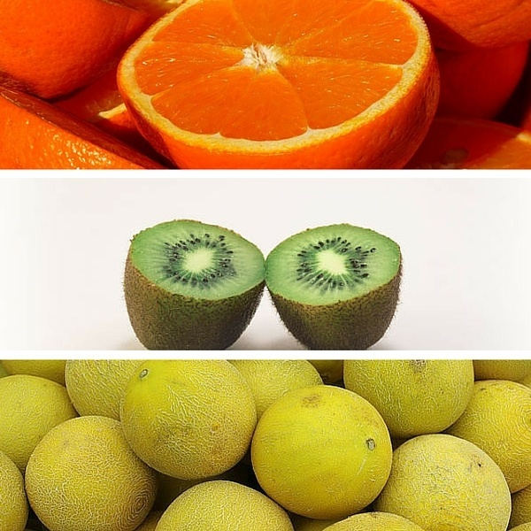 oranges kiwis cantaloupes