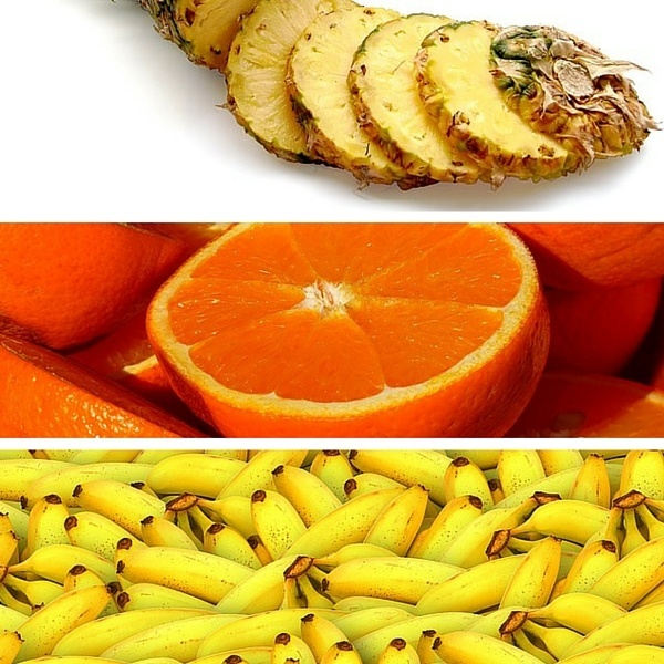 pineapples oranges bananas