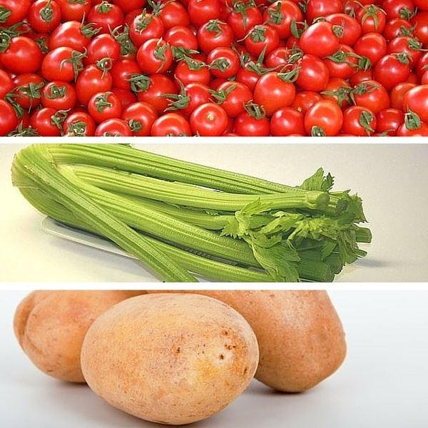 tomato celery potato