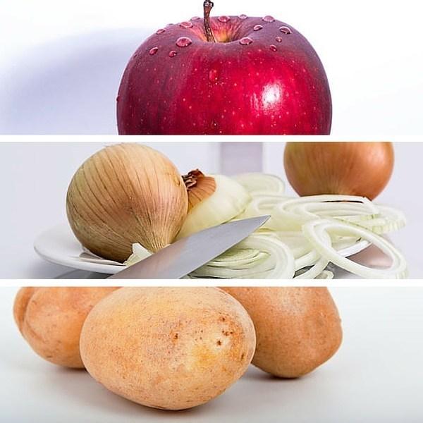 apple onion potatoes