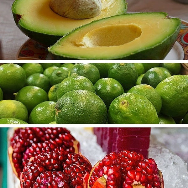 avocado lime pomegranate