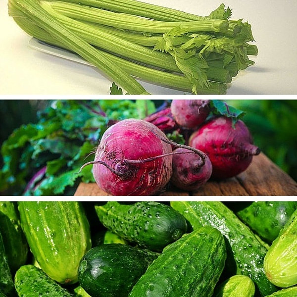 celery beets cucumbers
