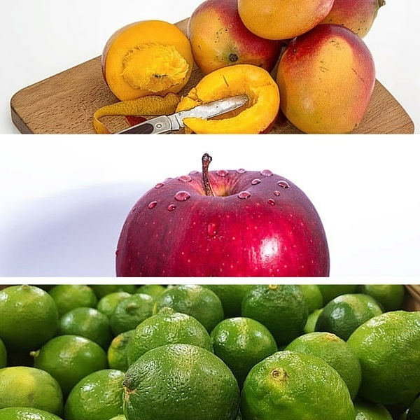 mangos apples limes